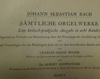 Antique Music book  Johann Sebastian Bach Joseph Bonet