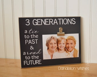 three generation photo frame mother daughter photo frame father and son picture frame grandparents frame custom frame 4 generations
