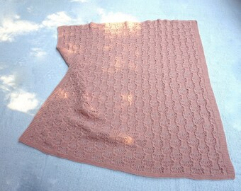 Pure 100 Cashmere  Hand Knit Baby Blanket for Baby Girl