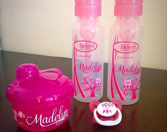 Personalized Dr. Brown's baby bottles