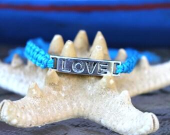 Blue Macrame Bracelet,Love Bracelet, Love Shamballa Bracelet,Blue Shamballa Bracelet,Friendship Bracelet,Braided Bracelet,Macrame Bracelet