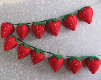 Felt Strawberry Garland