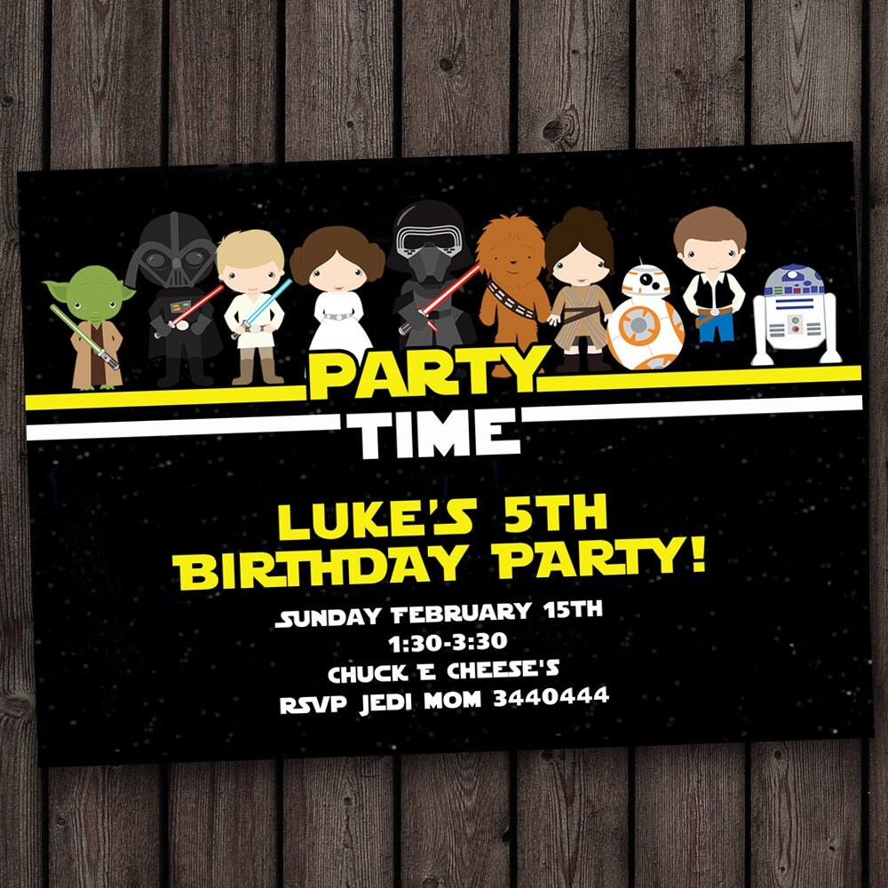 star wars invitation star wars birthday invitations fast – Lego Star Wars Birthday Cards