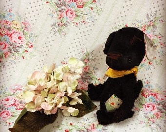 Bumble the OOAK unique artist teddy bear old puppy dog