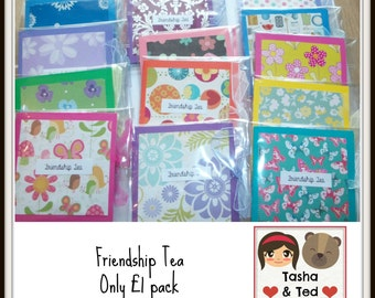 Friendship Tea - Teabag - Friendship Gift - Tea- Wrapped Teabag - Gift for Friend - Favours - Wedding Favours - Party Favours