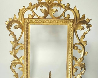Antique, Cast Iron Acanthus Leaf Picture Frame