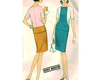 McCalls Sewing Pattern 8666 Misses' Two-piece Dress - estimated vintage 1960's  Size:  10  Bust 31  Uncut
