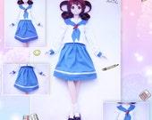 BJD kawaii cosplay anime school uniform