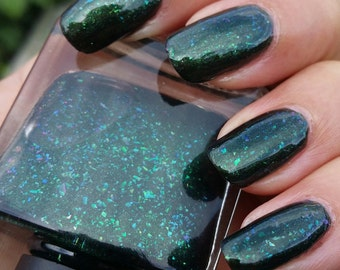 Gangsta Wrappa ~ Happy Holidays collectie Indie Nail Polish zwart goud Glitter UCC Flakies gelei 10ML Gangsta Wrappa Happy Holidays collectie Indie Nail Polish - 웹