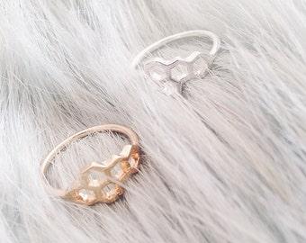 Honeycomb Ring | Behive | Hexagon | Boho Jewellery | Minimlist | 90s