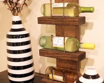 Mini Rustic Wine Rack