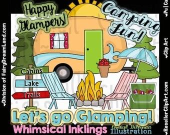 Happy Camper Glamping Clip Art