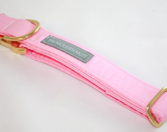 Solid Dog Collar in Baby Pink