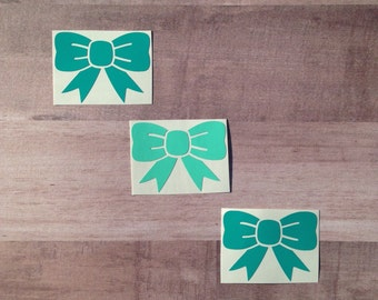 4 Mix & Match Bow Decals, 2 Inch Bow Decals, Yeti Cup Decal, Phone Decal, Small Decal, Gifts for her, Vinyl Decal, Gifts for a Little Girl