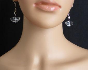 Everyday Crystal Quartz Pebble Drop Earrings