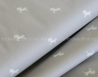 Zinc Horse Polka Dot, Equestrian Collection, Camelot Fabrics, Quilting Weight Cotton Fabric