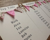 Custom Listing for Stacy - Revised Table Plan Card with Mini Bunting