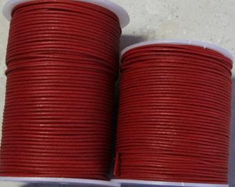 1.8mm DARK RED Leather- 10 meters