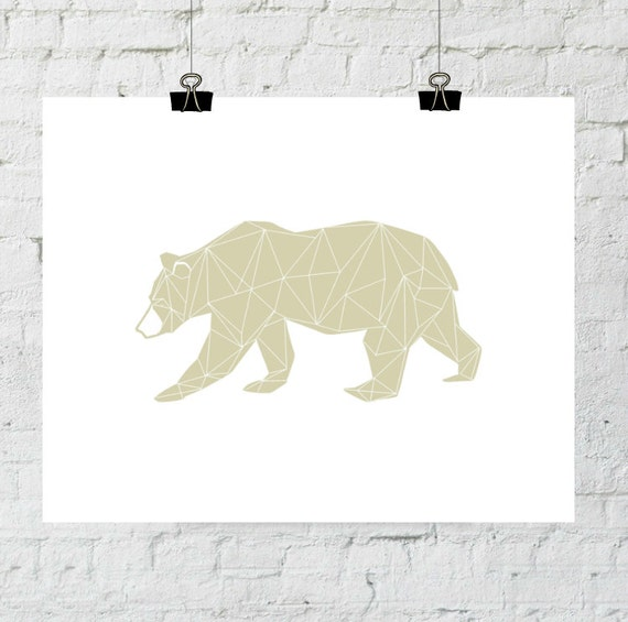 Modern Bear Print, Bear Wall Art, Modern Home Decor, Woodland Wall Art, Bear Art, Bear Prints, Digital Download, Bear Print, Bear Printable