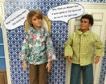 Smart shirt for Ken dolls.
