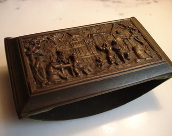 JB Jennings Brothers Dutch Relief Ink Blotter Bronze Color