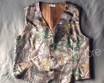 Camo Realtree Men's Vest Size 2xL