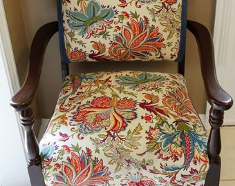 SOLD******Refinished/Reupholstered Antique Accent Chair