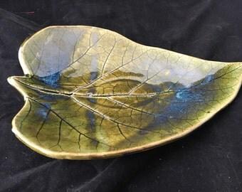 Catalpa leaf plate