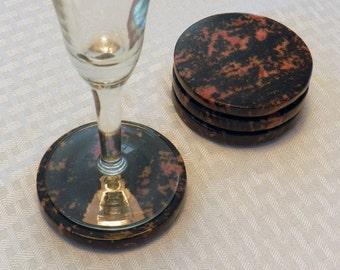 Rhodonite Coasters - Set of 4 (COA-RH4-01)