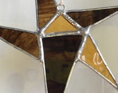 Hand Crafted Stained Glass Star Ornament