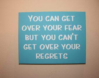 No regrets sign - no fear sign - yolo sign - Motivational sign - Inspirational sign - Wall art sign - home decor - wall art sign - yolo