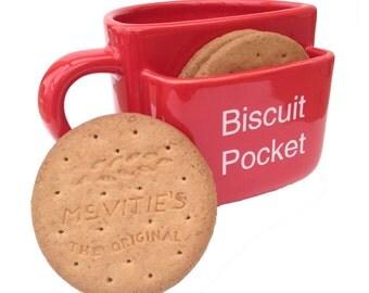 Biscuit Pocket Mug - LARGE size RED