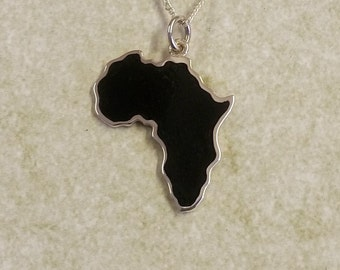 Africa in Silver frame (Choose your COLOR)