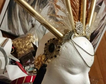 Golden goddess headdress