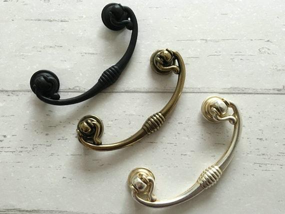 2 5 Dresser Pulls Drop Drawer Pull Handles Knob Antique
