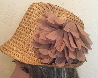 Fedora, Fedora Hat, Tan Hat, Straw Fedora, Beach Hat, Summer Hats, Womens Hat, Straw Hats, Fashion Hat