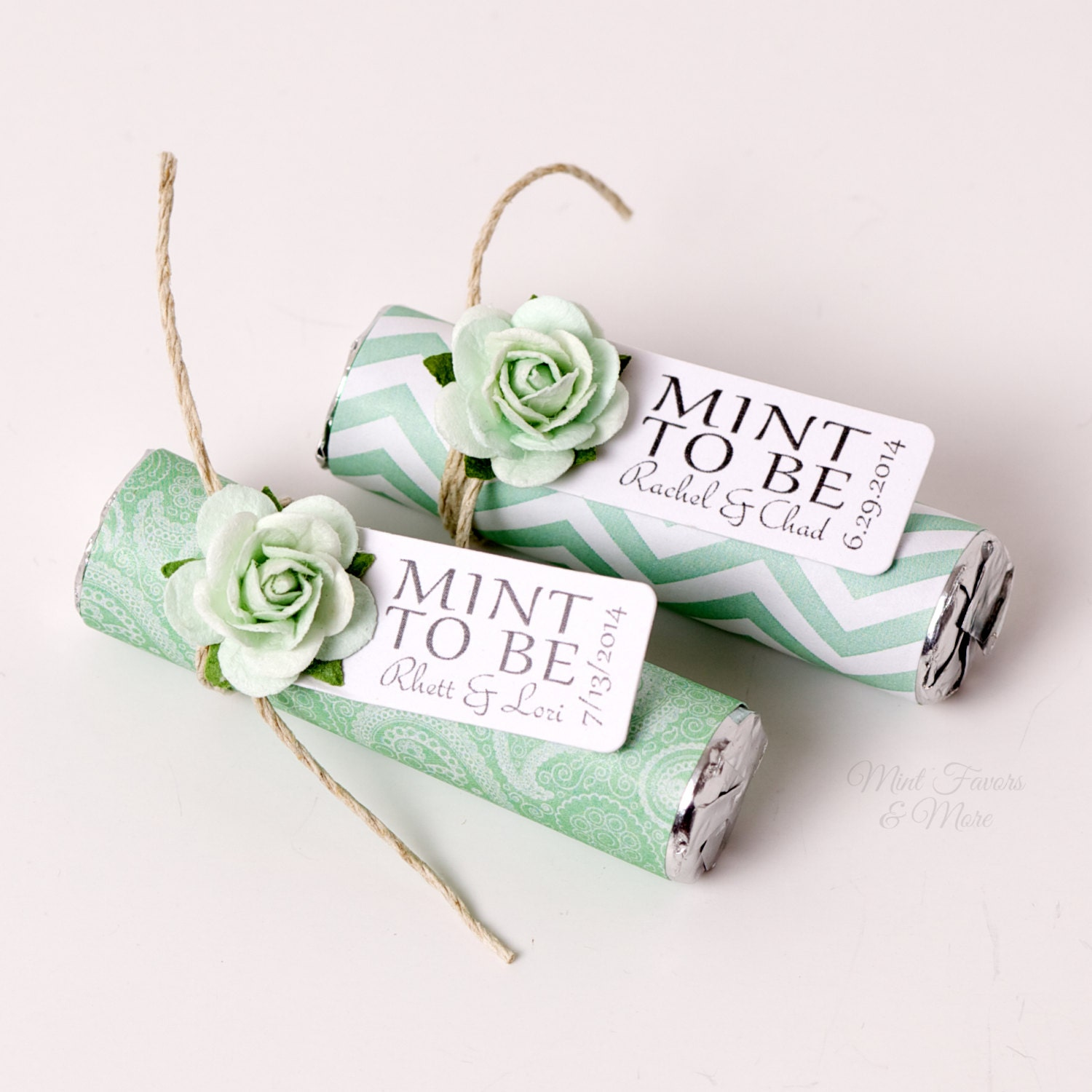 Unique Wedding Favors: Mint Wedding Favors With Personalized Mint To Be