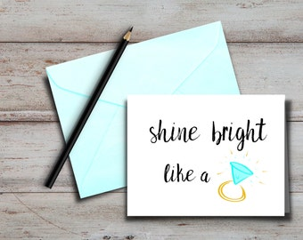 Shine Bright Like a Diamond Note Cards, Set of 10