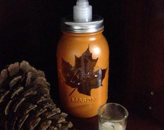 Leaf jar soap dispenser