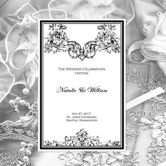 Catholic Church Wedding Program Vienna Black