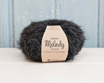 Drops Melody, Wool and Alpaca, black