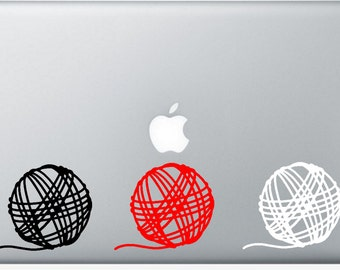 "4"" Yarn Ball Vinyl Decal Sticker"