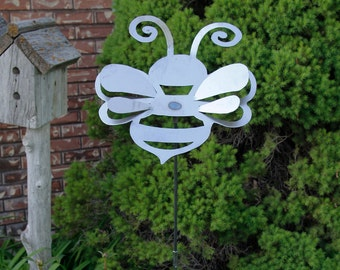 Large Metal Bumble Bee Yard Stake