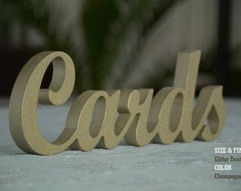 Wedding Cards Sign, Gold Wedding Cards Sign- Wedding Decoration CARDS, Sign for Wedding