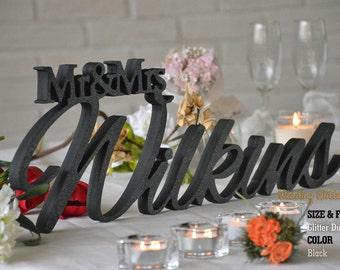 Personalized With Your Last Name, Mr & Mrs Family Name, Mr and Mrs Sign
