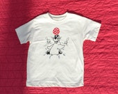 """Seal """"Balancing Ball"""" Toddler Tee: 100% organic cotton with screenprint, embroidery and appliqué"""