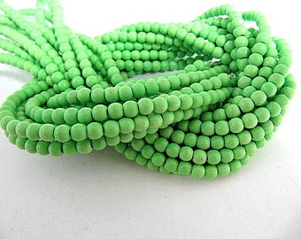 Turquoise Bead Strand, Synthetic, Lime Green, Dyed, Round, 4 mm, 100 Piece Strand, Sale, Jewelry Supply
