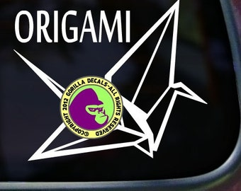 ORIGAMI Vinyl Decal Sticker