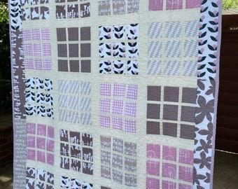 Purple Shades Modern Lap Quilt