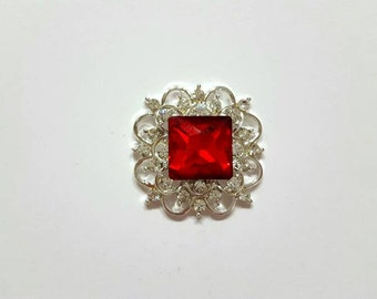 Ruby Crystal Jewel Needle Minder